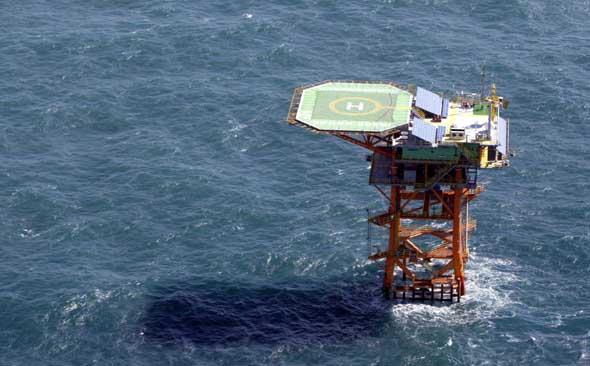 하늘에서 내려다 본 이어도해양과학기지의 모습. ⓒ제주의소리 자료사진
