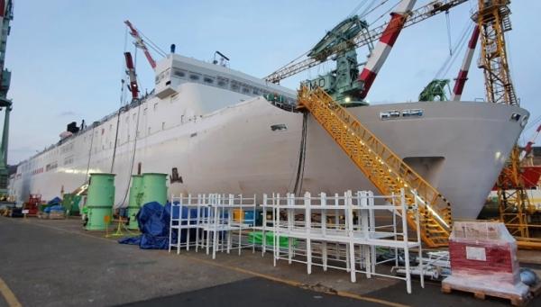 현대 미포조선에서 건조중인 2만7000톤급 비욘드 트러스트호